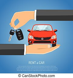 Rent Car Concept for Poster, Web Site, Advertising like...