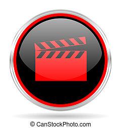 video black and red metallic modern web design glossy circle...