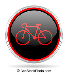 bicycle black and red metallic modern web design glossy...
