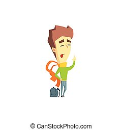 Arrogant Boy Emotion Icon - Arrogant Boy Flat Vector Emotion...
