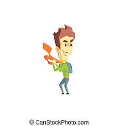 Mischievous Boy Emotion Icon - Mischievous Boy Flat Vector...