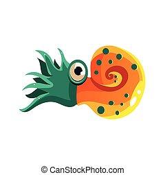 Crustacean Vector Illustration - Crustacean Cute Vector...