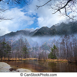 Image of fall season of kamikochi national park, Japan - The...
