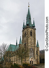 St. Bonifatius church, Fulda, Germany - St. Boniface is a...