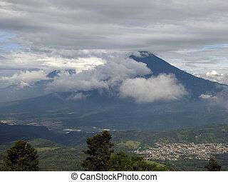 View of Acatenango Volcano from Pacaya Volcano