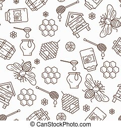 Mead seamless pattern illustration - Honey seamless pattern...