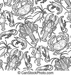 crustáceos, gráfico, Colección