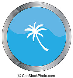 Icon Illustration Isolated on a Background - Palmtree - An...