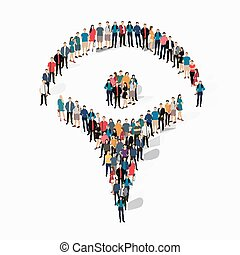 man people crowd - Isometric set of styles abstract , man,...