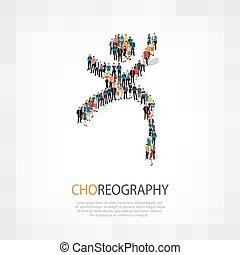 Símbolo, coreografia, torcida, pessoas