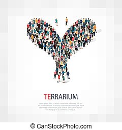 terrarium people - Isometric set of terrarium , web...