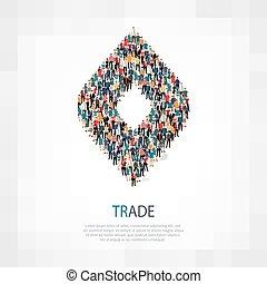 trade people crowd - Isometric set of trade , web...