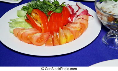 vegetable sliced on a plate