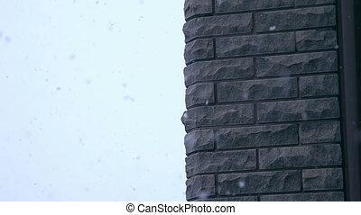 winter is heavy snow falling