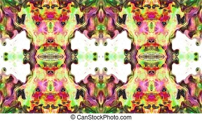 Abstract loop kaleidoscope - Abstract digital generated...