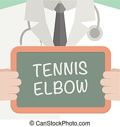 Board Tennis Elbow - minimalistic illustration of a doctor...