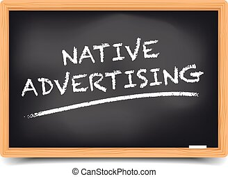 Blackboard Native Advertising - detailed illustration of a...