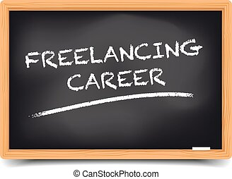 Blackboard Freelancing Career - detailed illustration of a...