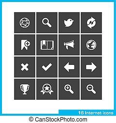 Internet icon set.
