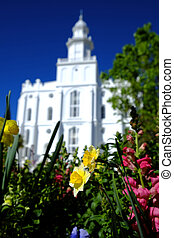 Mormon Temple St George - Mormon Temple in St George with...