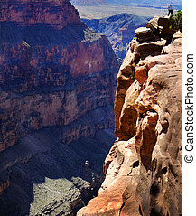Grand Canyon River Rock Rims - View of the Grand Canyon...
