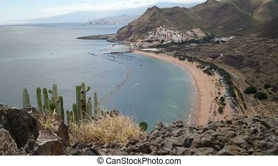 Teresitas beach, in Tenerife - Teresitas beach, in northern...