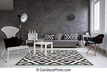 Extraordinary livng room for stylish person - Grey room with...
