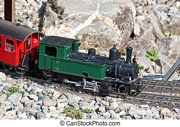 Miniature model of the steam train