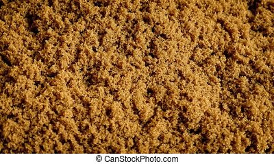 Raw Brown Cane Sugar Rotating - Natural brown cane sugar...