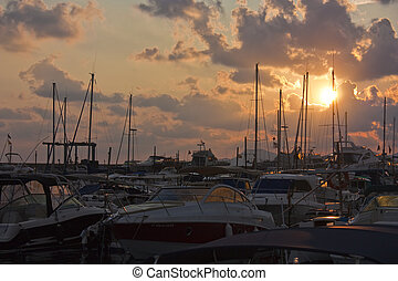 marina at dawn - Marina in majorca as the sun rises