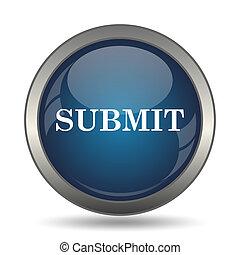 Submit icon Internet button on white background