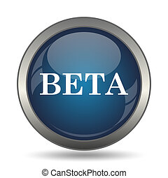 Beta icon Internet button on white background