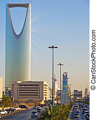 Kingdom tower in the Riyadh city, Saudi Arabia