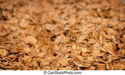 Oats Poured Into Pile - Rolled oats pouring into pile