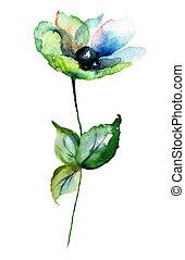 Gerber flowers, watercolor illustration
