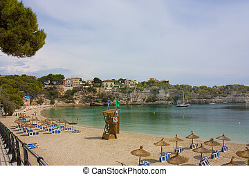 Porto cristo beach in nortrhern majorca in spain