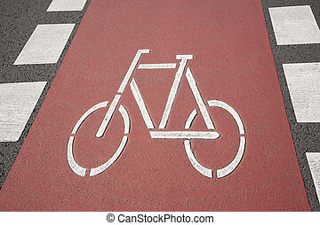 Bike Lane Symbol, Bonn, Germany