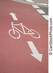 Bike Lane and Arrow, Bonn, Germany