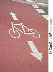 Bike Lane and Arrow, Bonn, Germany