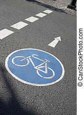 Bike Lane Symbol, Bonn, Germany