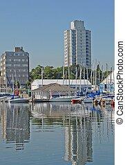 Hamilton Harbour - marina at the Hamilton harbor, Hamilton...