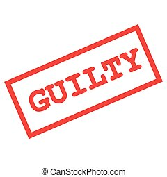 guilty sign - vector format guilty sign isolated on white