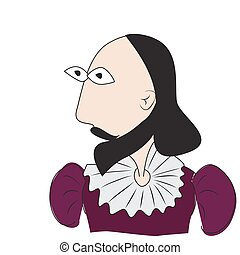 William Shakespeare - vector illustration of William...