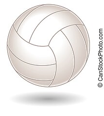 Volleyball - volleyball on white background with shadow