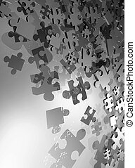 imaginative puzzle pieces - Creative design of imaginative...