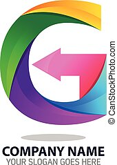 Letter G Logo Icon Template - Vector Design of Letter G Logo...