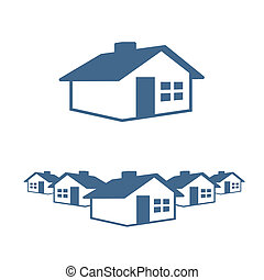 House Graphic Icon and Header Ready for your Text and Color