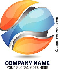 Glossy Sphere Logo Template