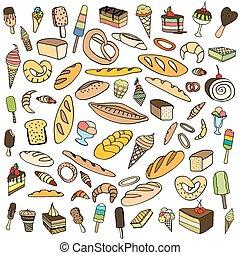 Set of ice-cream