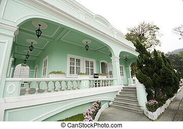 Taipa houses museum is a famous landmark in macau